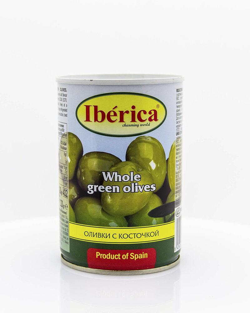 Оливки Iberica с косточкой 420 гр.