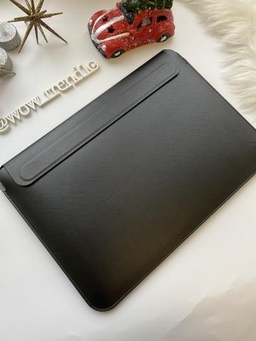 Папка конверт для MacBook 16'' Wiwu Skin Pro2  Leather /black/