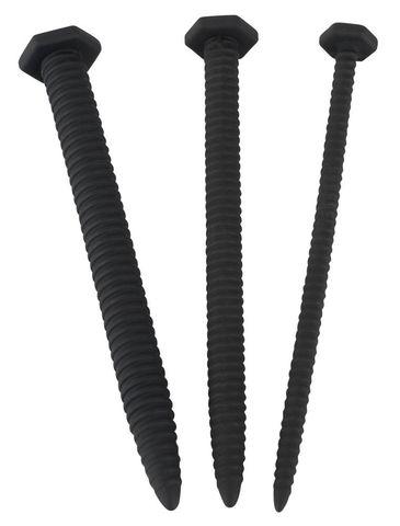 Набор из 3 винтовых уретральных плагов Screw Dilator