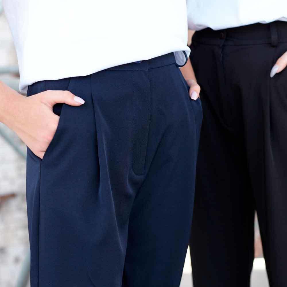 Підліткові брюки банани для дівчинки синього кольору