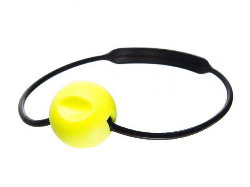 Шумовое устройство ist для дайверского баллона, желтый шар на силиконовом обруче