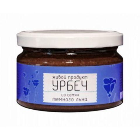 Живой продукт Урбеч из семян темного льна, 225 гр