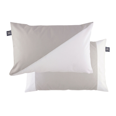 Cushion case set with filling / waterproof / light grey