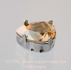 4320/S Сеттинг - основа Сваровски для страза Капля 14х10 мм (цвет - античное серебро)