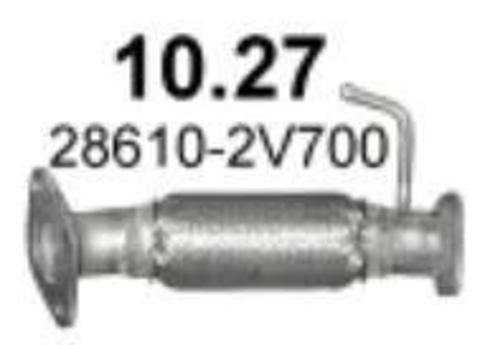 глушитель Kia Sportage/ Hyundai ix35 1.7 CRDi