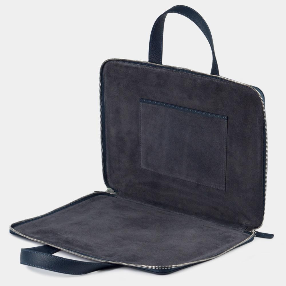 Zipped & pockets 13'' - blue mat