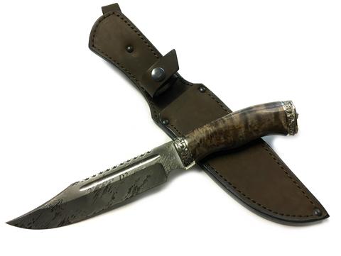 Подарочный нож Рэкс, сталь D2, стаб. карельская береза