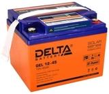 Аккумулятор Delta GEL 12-45  ( 12V 45Ah / 12В 45Ач ) - фотография