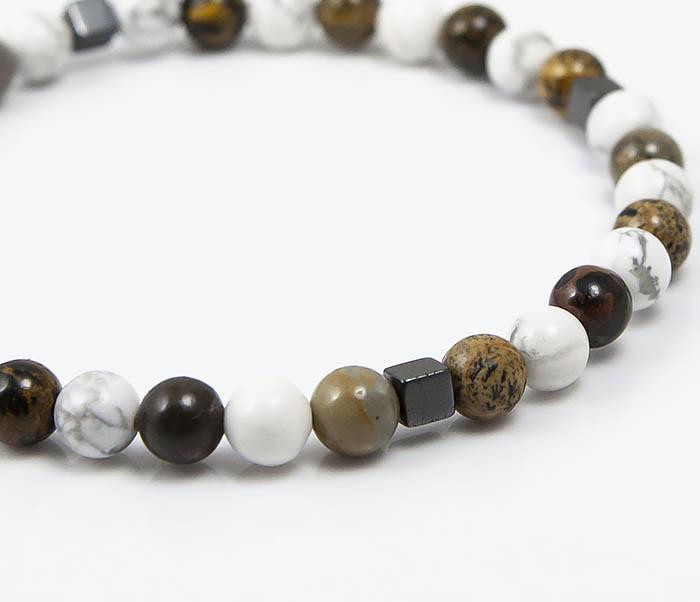 BS823 Ярий мужской браслет из разных натуральных камней фото 05
