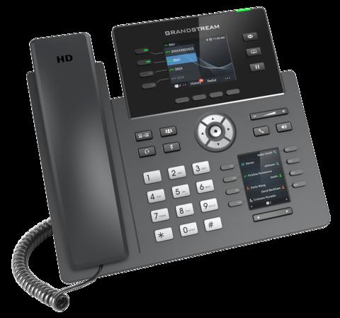 Grandstream GRP2614 - IP телефон. 4 SIP аккаунта, 4 линии, двойной цветной LCD, PoE, (1GbE)Gigabit Ethernet, 8 BLF, Wi-Fi, Bluetooth