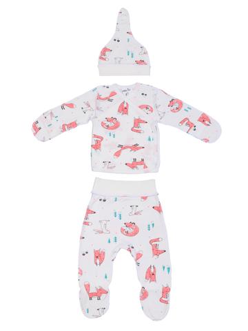 Mini Fox. Комплект для новорожденных 3 предмета, лисы