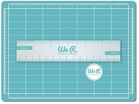 Магнитный мини мат для резки 15,2 х 20,2 см.   Mini Magnetic Cutting Mat & Ruler Set