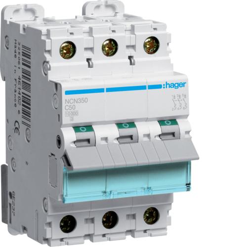 Автоматический выключатель 3Р, C-50A, 10kA