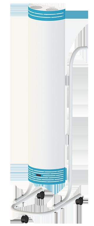 Облучатель-рециркулятор бактерицидный  с таймером ОБР-30/2 П - Мед ТеКо (двухламповый, передвижной )