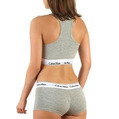 Женский комплект серый топ и боксеры Calvin Klein Women Grey