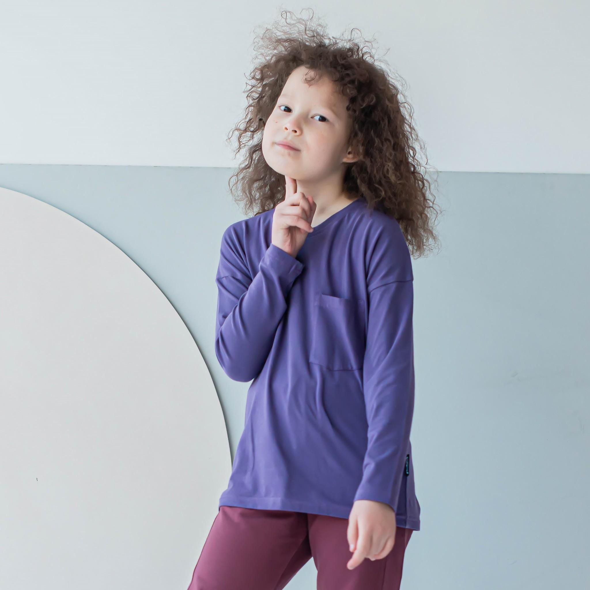 Long-sleeved T-shirt for teens - Grape