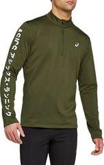 Рубашка Asics Katakana Winter 1/2 Zip Green мужская
