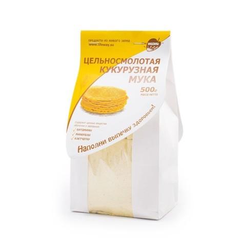 Мука кукурузная цельносмолотая, 500 гр. (Образ жизни)