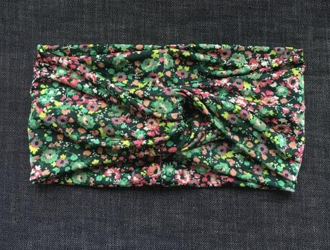 Полоска-чалма с цветочным принтом