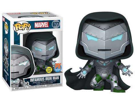 Фигурка Funko Pop! Marvel:  Infamous Iron Man (GitD) (Excl. to Previews)