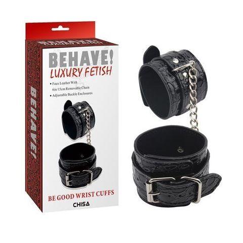Черные наручники Be good Wrist Cuffs