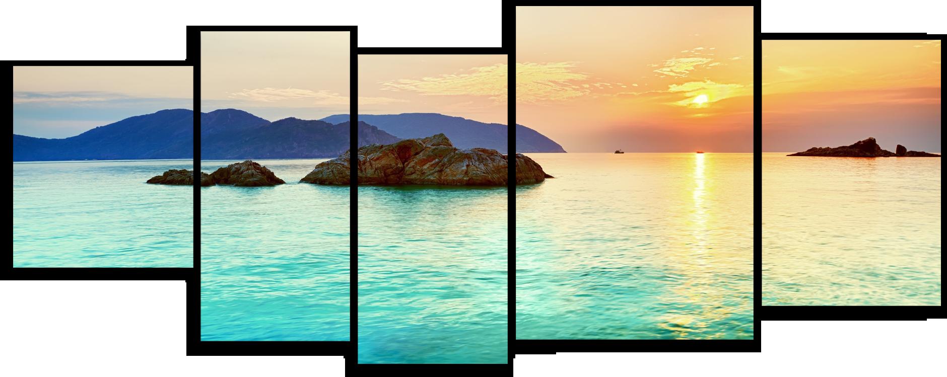 """Природа Модульная картина """"Морские горы"""" М361.png"""