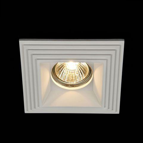 Встраиваемый светильник Maytoni Gyps Modern DL005-1-01-W