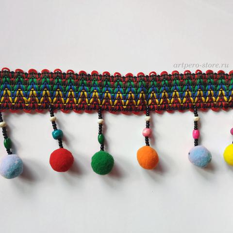 Тесьма декоративная с помпончиками