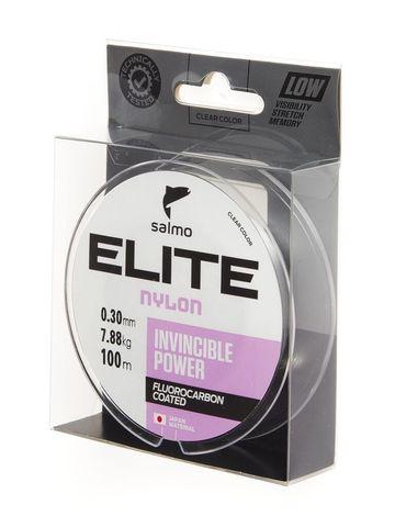 Леска монофильная SALMO Elite Fluoro Coated Nylon, 100 м, 0,30 мм, прозрачная