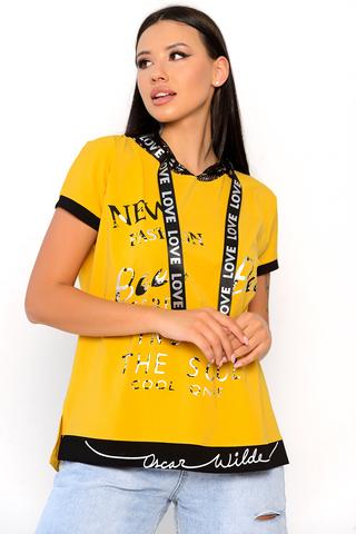 Футболка-худи 3 (сетка, манго). <p>Футболка-худи отличный вариант на каждый день! Уместно носить в этом сезоне с джинсами, джоггерами из эко-кожи, юбками и даже с удлиненным жакетом! Супер актуальная вещь.&nbsp;</p>