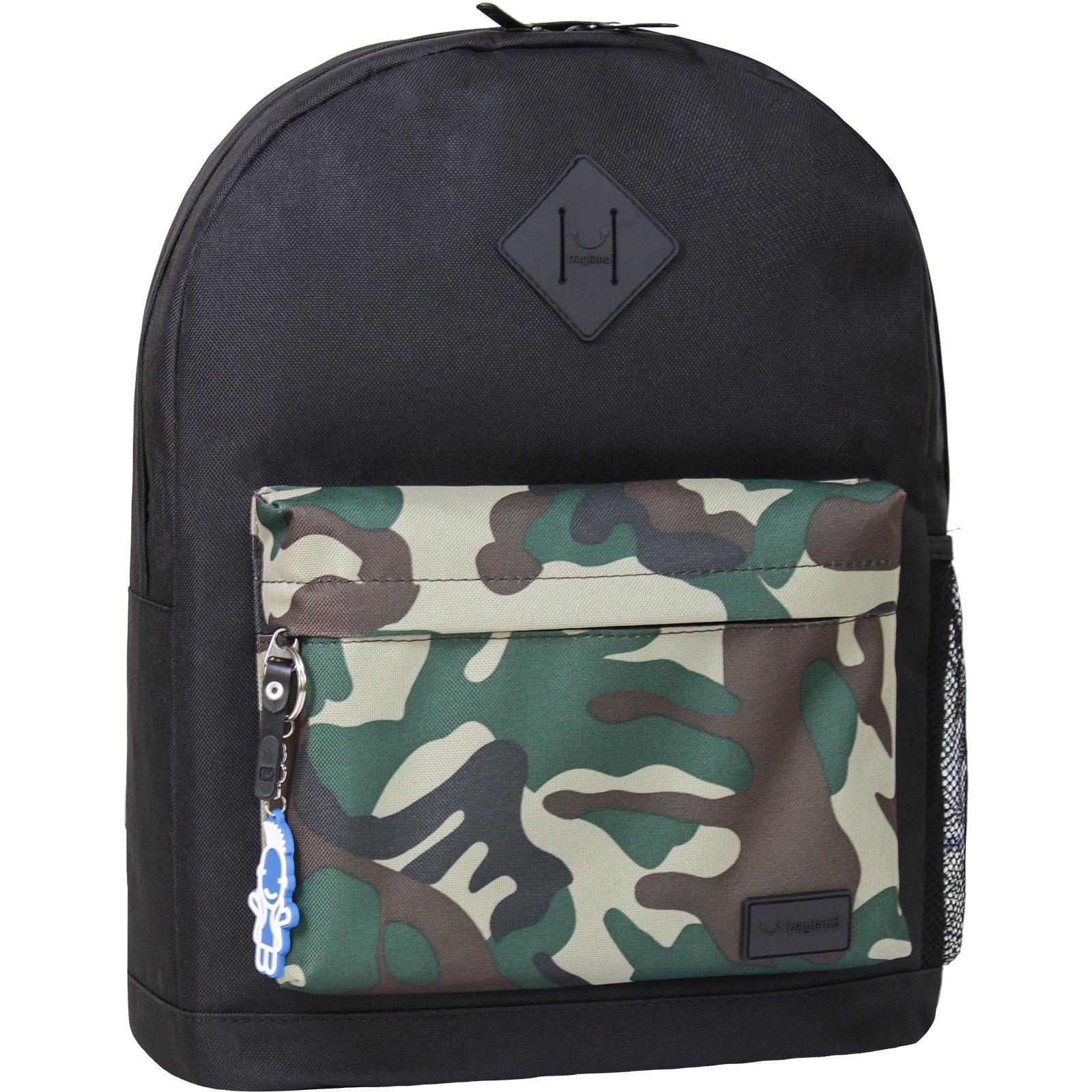 Городские рюкзаки Рюкзак Bagland Молодежный W/R 17 л. черный/камуфляж (00533662) IMG_8855-1600.jpg
