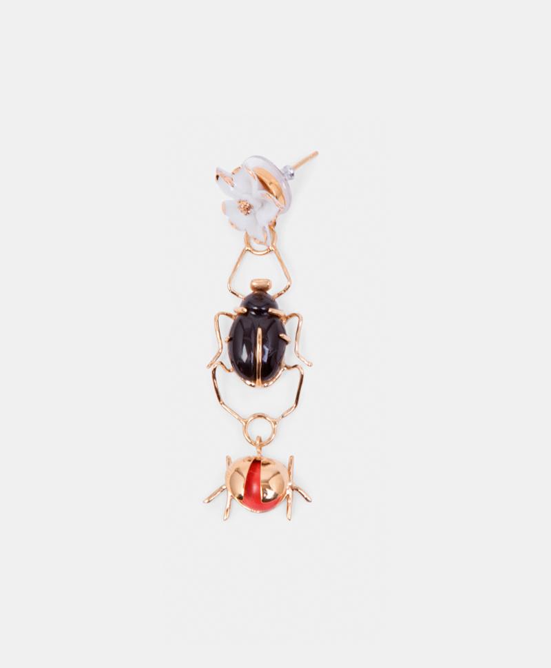 Моно-серьга  Scarab & Ladybug Colours