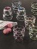 BUBBLES - Набор стаканов 2 шт. для воды с зеленым донышком 330 мл бессвинцовый хрусталь
