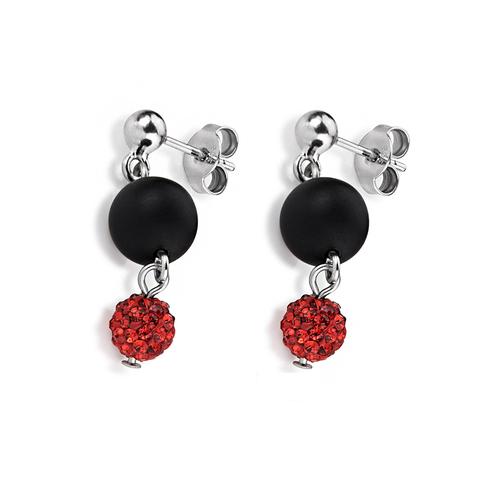 Серьги Coeur de Lion 4845/21-1500 цвет чёрный, красный