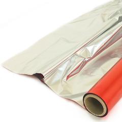 Полисилк Красный / Серебро, 100 см* 20 м.