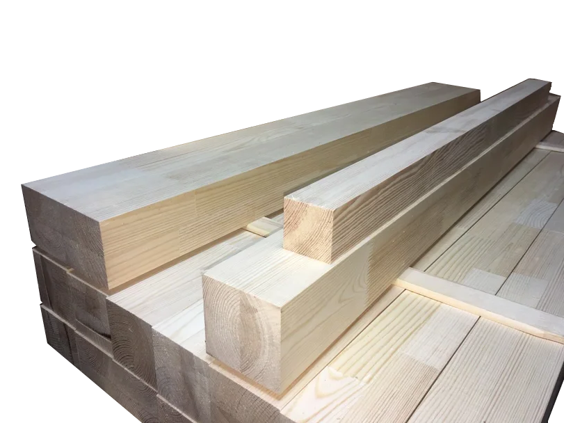 Мебельный брус - сосна цельноламельная 80мм х 80мм х 1200мм
