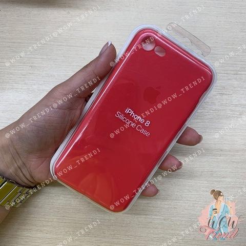Чехол iPhone 7/8 Silicone Slim Case /red raspberry/
