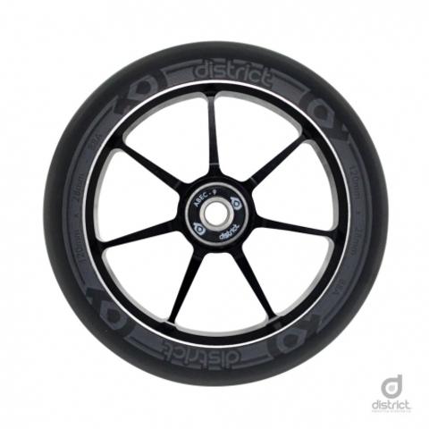 Колеса с подшипниками District 120x28mm Dual Width Core - Black/Grey