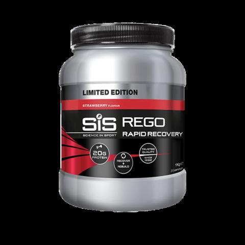 SiS Rego Напиток восстановительный углеводно-белковый в порошке, вкус Клубника, 1кг
