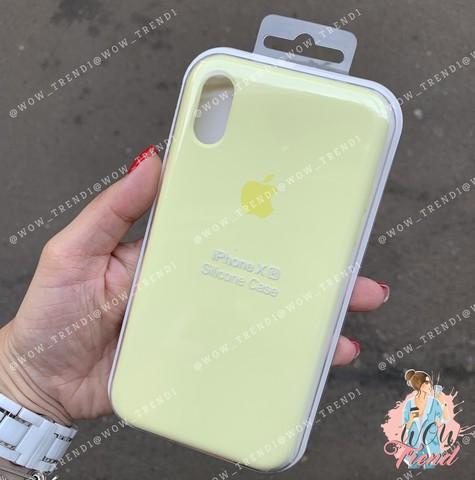 Чехол iPhone XR Silicone Case /mellow yellow/ волшебно-желтый 1:1