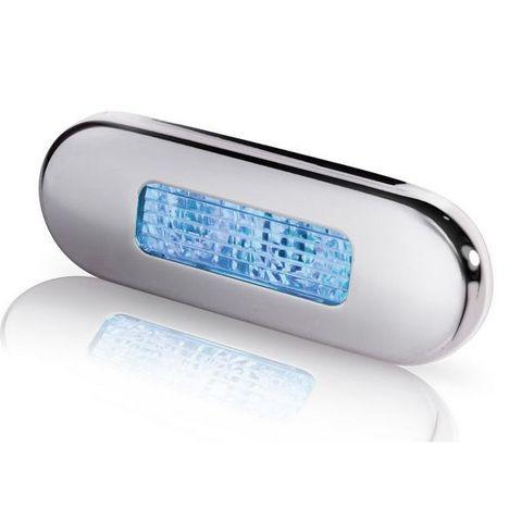 Светильник светодиодный для подсветки палуб и трапов, 84 х 29 мм, синий свет, хромированный корпус