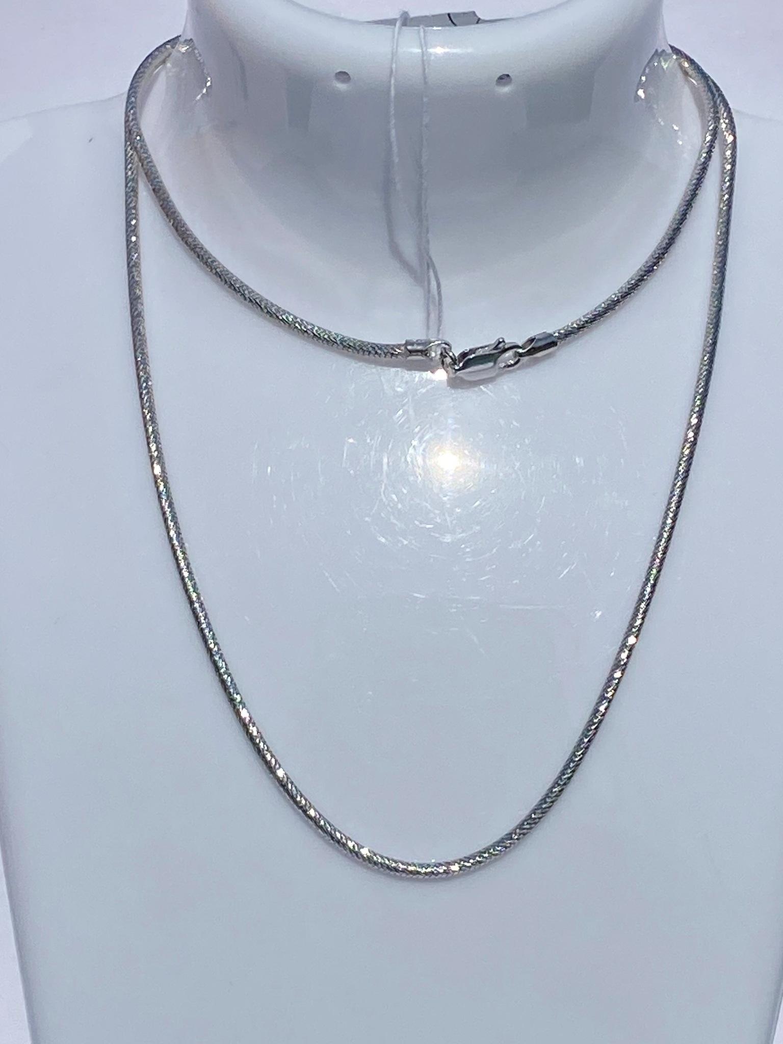Снейк круглый 0,2 см. (серебряная цепочка).
