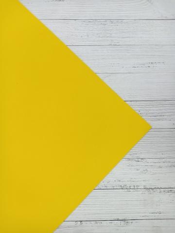Фоамиран 2мм 50х50см  пр.Китай ярко-желтый (014)