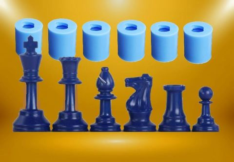 Силиконовые молды  Шахматы   малые   Набор 6  молдов