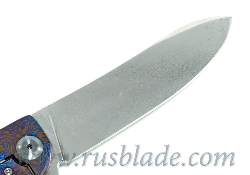 Cheburkov Frieze Damascus Folding Knife - фотография