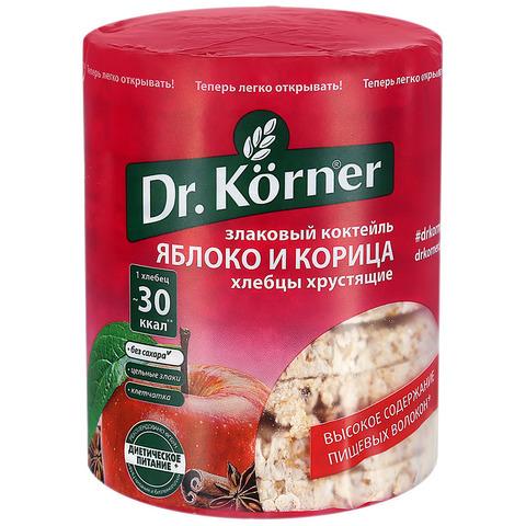 """Хлебцы """"Dr. Korner"""" злаковый коктейль с яблоком и корицей 90 г"""