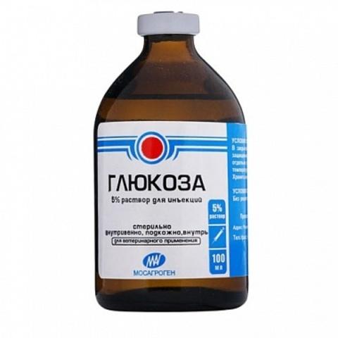 Глюкоза раствор для инъекций 5 %  100 мл