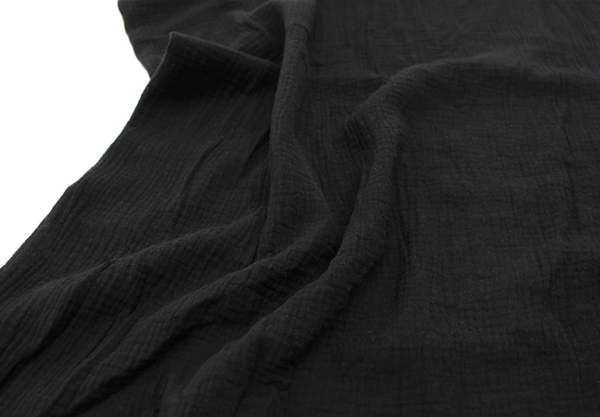 Ткань муслиновая, черный