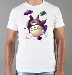 Футболка с принтом Мой сосед Тоторо (Totoro) белая 0018