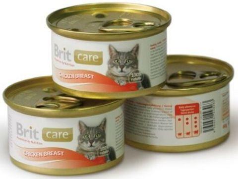 3063 Brit Care Консервы д/кошек Куриная грудка 80гр*48